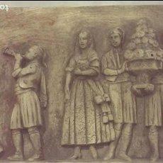 Arte: GRABADO ESCULTORICO ESCENA CONSTUMBRISTA VALENCIA, FALLAS, OFRENDA FLORES, TABALET Y DOLCAINA. Lote 115084967