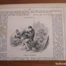 Arte: TEJEDORES DE PAJA, 1889. ANÓNIMO. Lote 115191159