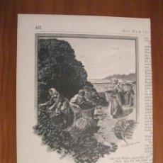 Arte: RECOGIENDO TURBA-CARBÓN, 1899. ANÓNIMO. Lote 115191371