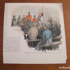 Arte: DISCURSO Y ASISTENTES DEL EJERCITO DE SALVACIÓN, CIRCA 1880. Lote 115192527