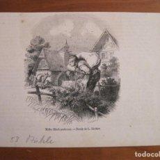 Arte: ANCIANO PORTANDO UN SACO, 1853. RICHTER. Lote 115192931