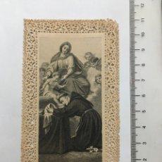 Arte: ESTAMPA RELIGIOSA CALADA. S. ANTONIUS DE PADUA. EDITADA EN ALEMANIA? FINALES S. XIX. Lote 115291096