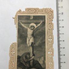 Arte: ESTAMPA RELIGIOSA CALADA. CONSUMMATUM EST. EDITADA EN ALEMANIA? FINALES S. XIX. Lote 115291439