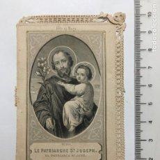 Arte: ESTAMPA RELIGIOSA CALADA. ST. JOSEPH. EDTADA EN PARÍS. FINALES S. XIX.. Lote 115293298