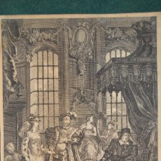 Arte: ANTIGUO GRABADO ¨ENRIQUE VIII Y ANA BOLENA¨, PINTURA DE W. HOGARTH, S. XVIII, PRINT SAYER, MAP.. Lote 115330751
