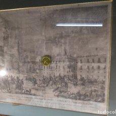 Arte: IMPORTANTE GRABADO HISTÓRICO - TROPAS DEL GENERAL ÁLAVA EN VITORIA EL 21 DE JUNIO DE 1813 - ORIGINAL. Lote 115376011