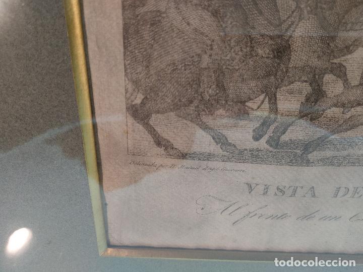Arte: IMPORTANTE GRABADO HISTÓRICO - TROPAS DEL GENERAL ÁLAVA EN VITORIA EL 21 DE JUNIO DE 1813 - ORIGINAL - Foto 6 - 115376011