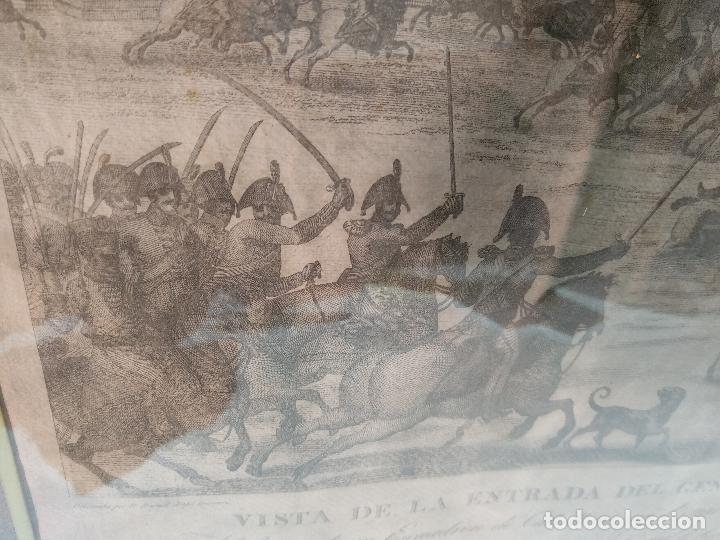Arte: IMPORTANTE GRABADO HISTÓRICO - TROPAS DEL GENERAL ÁLAVA EN VITORIA EL 21 DE JUNIO DE 1813 - ORIGINAL - Foto 7 - 115376011