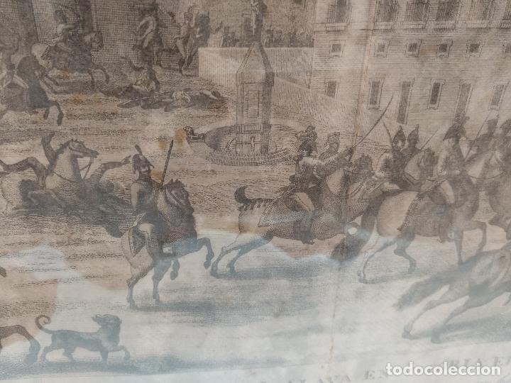 Arte: IMPORTANTE GRABADO HISTÓRICO - TROPAS DEL GENERAL ÁLAVA EN VITORIA EL 21 DE JUNIO DE 1813 - ORIGINAL - Foto 8 - 115376011