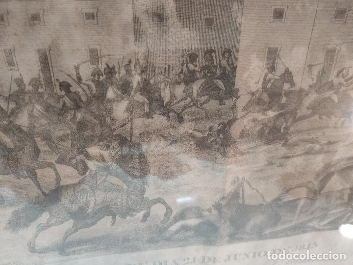 Arte: IMPORTANTE GRABADO HISTÓRICO - TROPAS DEL GENERAL ÁLAVA EN VITORIA EL 21 DE JUNIO DE 1813 - ORIGINAL - Foto 9 - 115376011