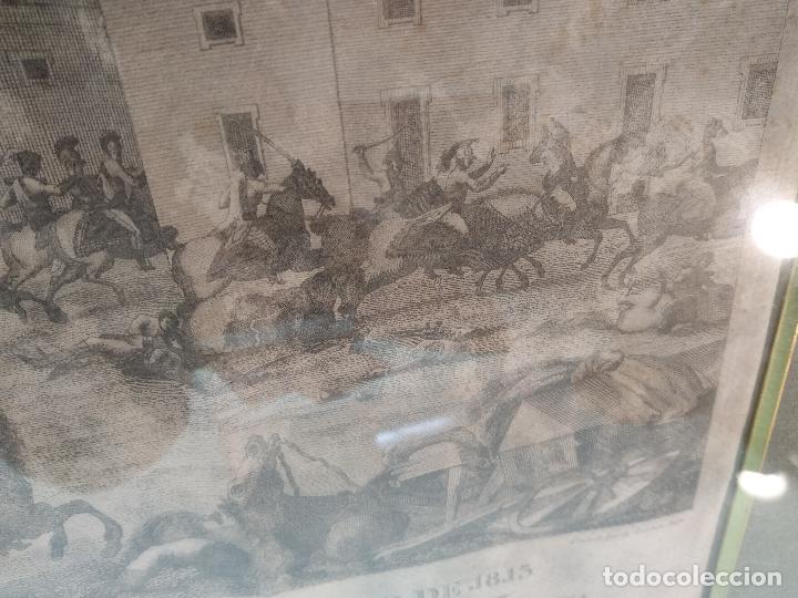 Arte: IMPORTANTE GRABADO HISTÓRICO - TROPAS DEL GENERAL ÁLAVA EN VITORIA EL 21 DE JUNIO DE 1813 - ORIGINAL - Foto 10 - 115376011