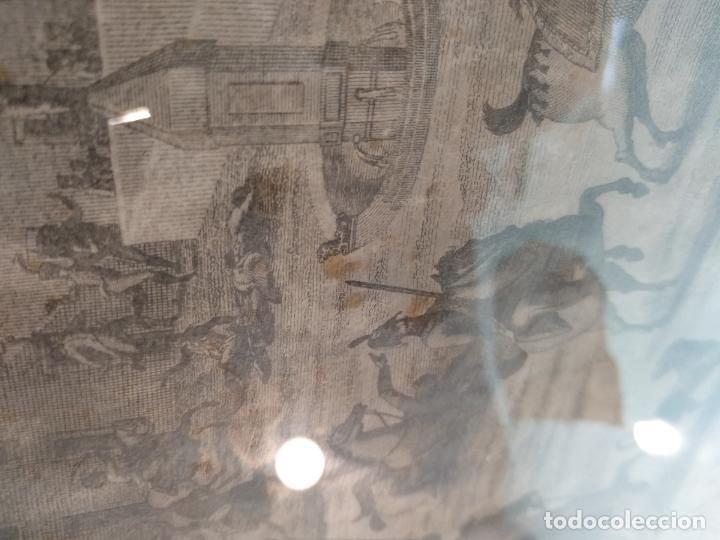 Arte: IMPORTANTE GRABADO HISTÓRICO - TROPAS DEL GENERAL ÁLAVA EN VITORIA EL 21 DE JUNIO DE 1813 - ORIGINAL - Foto 15 - 115376011