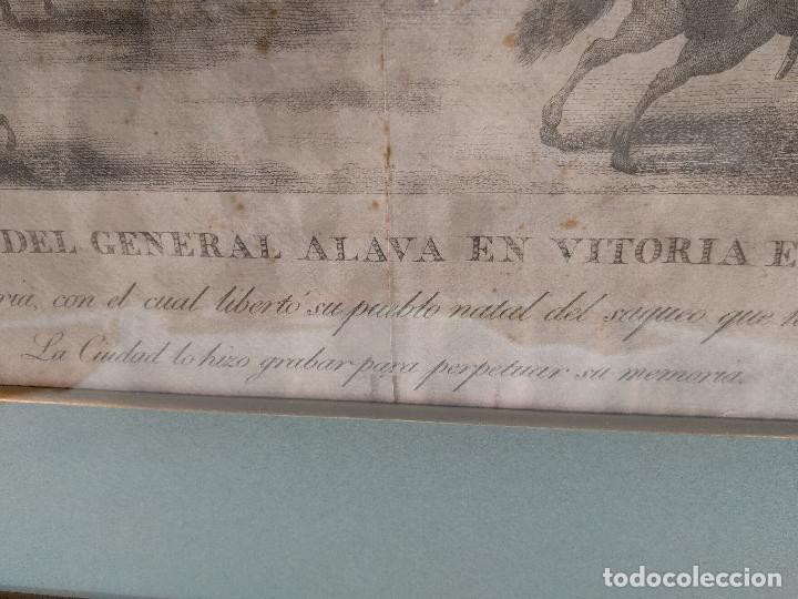 Arte: IMPORTANTE GRABADO HISTÓRICO - TROPAS DEL GENERAL ÁLAVA EN VITORIA EL 21 DE JUNIO DE 1813 - ORIGINAL - Foto 16 - 115376011