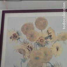Arte: CUADRO GRABADO LAMINA LOS GIRASOLES DE VAN GOGH. Lote 115536419