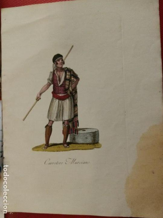 PRECIOSO GRABADO CARRETERO MURCIANO. 25 X 20 CM (Arte - Grabados - Contemporáneos siglo XX)