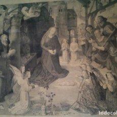 Arte: ADORATION DES BERGERS - L.FLAMENG GRABADOR - HOGO VAN DER GOES PINTOR. Lote 115914403