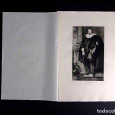 Arte: VAN DICK, PORTRAIT D'HOMME, AGUAFUERTE DE E. SALMON 1893. Lote 115935859