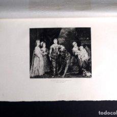 Arte: VAN DICK, LES CINQ ENFANTS DE CHARLES PRIMERO, AGUAFUERTE DE DE M. GAUJEAN 1893. Lote 115937487