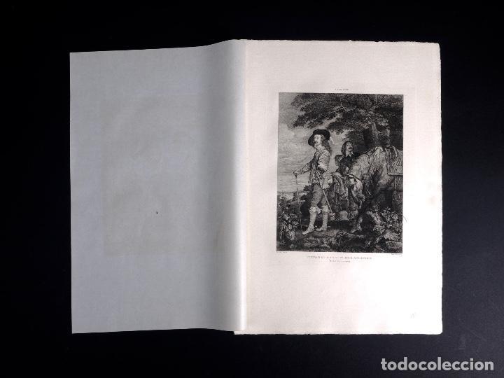 Arte: VAN DICK, PORTRAIT DE CHARLES 1ER ROI DE D'ANGLETERRE, AGUAFUERTE DE BOULARD, FILS 1893 - Foto 2 - 115938663