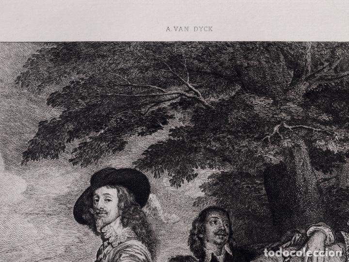 Arte: VAN DICK, PORTRAIT DE CHARLES 1ER ROI DE D'ANGLETERRE, AGUAFUERTE DE BOULARD, FILS 1893 - Foto 3 - 115938663