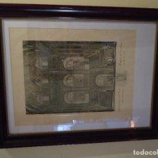 Arte: GRABADO DE LA ESCALERA PRINCIPAL DEL REAL MONASTERIO DE SAN LORENZO. Lote 115947303