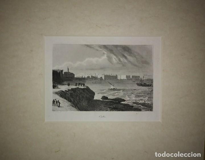 Grabado CADIZ Con paspartú biselado - 24cmx30cm Siglo XIX - 116138515