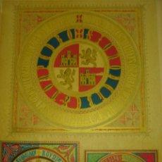 Arte: GRABADO ESCUDOS CASTILLA DE JUAN I JUAN II, Y ENRIQUE IV. ORIGINAL, 1879, BARCELONA,PUJADAS.. Lote 116163927