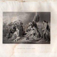 Arte: MUERTE DEL GENERAL WOLFE (WEST / SMITH) HISTORIA DE LOS ESTADOS UNIDOS. Lote 116230175