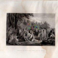 Arte: TRATADO DE GUILLERMO FENN CON LOS INDIOS (WEST / ARMYTAGE) HISTORIA DE LOS ESTADOS UNIDOS. Lote 116230275