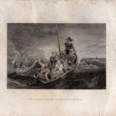 Arte: LOS PURITANOS INGLESES HUYENDO HACIA AMÉRICA (SIN FIRMA) HISTORIA DE LOS ESTADOS UNIDOS. Lote 116230467