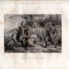 Arte: SMITH SALVADO POR POCAHONTAS (CORBOULD / KNIGHT) HISTORIA DE LOS ESTADOS UNIDOS. Lote 116230631
