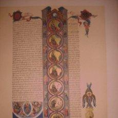 Arte: GRABADO PÁGINA DE BIBLIA DE GERONA. ORIGINAL, 1879, BARCELONA,PUJADAS.. Lote 116232703