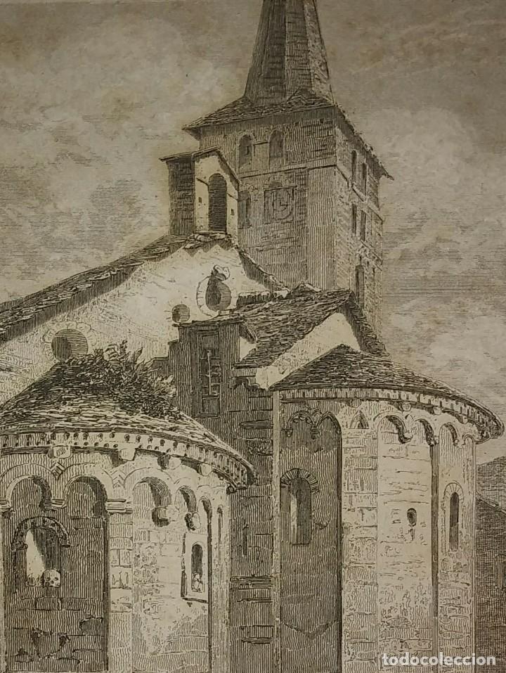 GRABADO BÓVEDA DE LA IGLESIA DE BOSOLTO ESPAÑA LEMAITRE DIREXIT. 19,5 X 12 ABSIDE DE L'EGLISE (Arte - Grabados - Modernos siglo XIX)