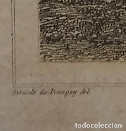 Arte: GRABADO BÓVEDA DE LA IGLESIA DE BOSOLTO ESPAÑA LEMAITRE DIREXIT. 19,5 x 12 ABSIDE DE LEGLISE - Foto 4 - 116254279
