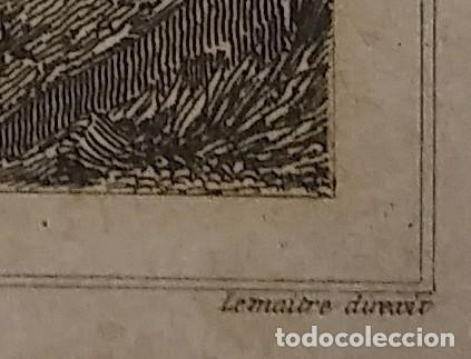Arte: GRABADO BÓVEDA DE LA IGLESIA DE BOSOLTO ESPAÑA LEMAITRE DIREXIT. 19,5 x 12 ABSIDE DE LEGLISE - Foto 5 - 116254279