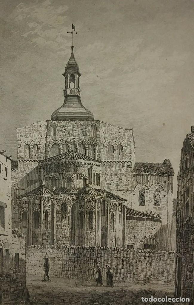 Arte: Lote 3 grabados siglo XIX Arquitectura - iglesias - Francia LEMAITRE DIREXIT - Foto 3 - 116265895