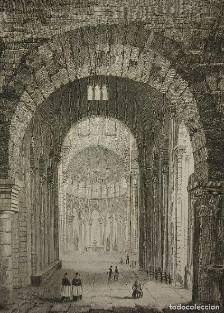 Arte: Lote 3 grabados siglo XIX Arquitectura - iglesias - Francia LEMAITRE DIREXIT - Foto 4 - 116265895