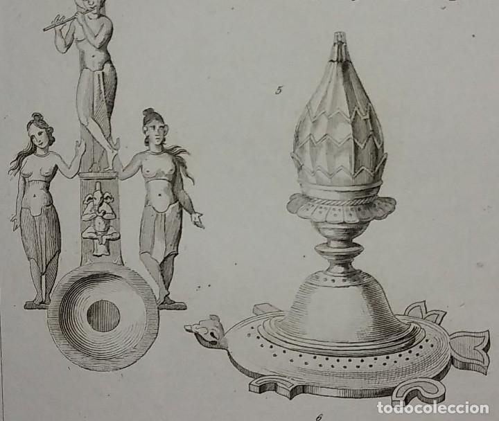 Utensilios empleados en los sacrificios - Grabado INDIA - Lemaitre Direxit - 116276067