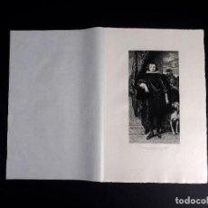 Arte: VAN DICK, PORTRAIT DU JEUNE PRINCE RUPRECHT, AGUAFUERTE DE M. W. HECHT 1893. Lote 116372983
