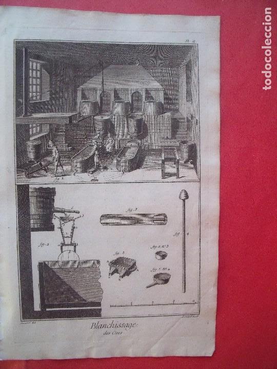 GRABADOS.-CERERIA.-GRABADOS AL COBRE.-ENCICLOPEDIA DE LAS ARTES Y MATERIAS.-LOTE 3 GRABADOS S. XVIII (Arte - Grabados - Antiguos hasta el siglo XVIII)