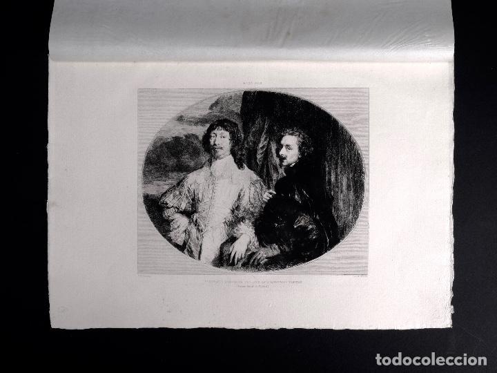 VAN DICK, PORTRAITS D'ANTOINE VAN DYCK ET D'ENDYMION PORTER, AGUAFUERTE DE M. F. MILIUS 1893 (Arte - Grabados - Modernos siglo XIX)