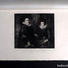 Arte: VAN DICK, PORTRAITS DU PEINTRE JEAN DE VAEL ET SA FEMME, AGUAFUERTE DE M. W. HECHT 1893. Lote 116374427