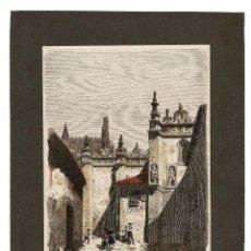 Arte: ÁVILA 1873 CALLE DE LA MUERTE O LA VIA.GRABADO DE SEVERINT - 16 X 22,5 CM SOLO EL GRABADO. Lote 116386471