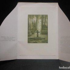 Arte: GRABADO DE CESAR LUENGO MADRID 1987- FUENTE DECORATIVA. Lote 116439115
