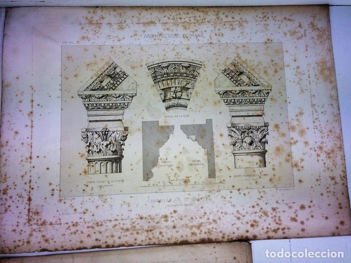Arte: DETALLES DE ARQUITECTURA ANTIGUA. GRABADO. EDITORES GUILLAUMOT-BURY. FRANCIA. FIN SIGLO XIX - Foto 2 - 116451455