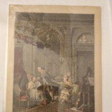 Arte: GRABADO LE BILLET DOUX- DEDIE AL MONSIEUR MENAGE DE PRESSIGNY. NICOLAS DE LAUNAY C.1770.. Lote 116471891