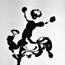 Arte: FLAMENCAS. 7 GRABADOS AL TAMPÓN. ACUARELA NEGRA. ESPAÑA. SIGLO. XX. Lote 116590727