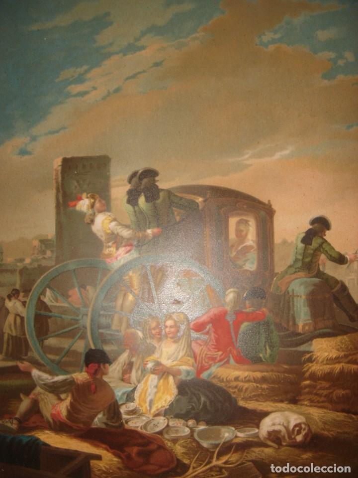 GRABADO EL CACHARRERO O VENDEDOR DE VAJILLA DE GOYA, 1879, BARCELONA,PUJADAS. (Arte - Grabados - Modernos siglo XIX)