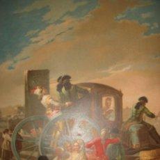 Arte: GRABADO EL CACHARRERO O VENDEDOR DE VAJILLA DE GOYA, 1879, BARCELONA,PUJADAS.. Lote 116622211