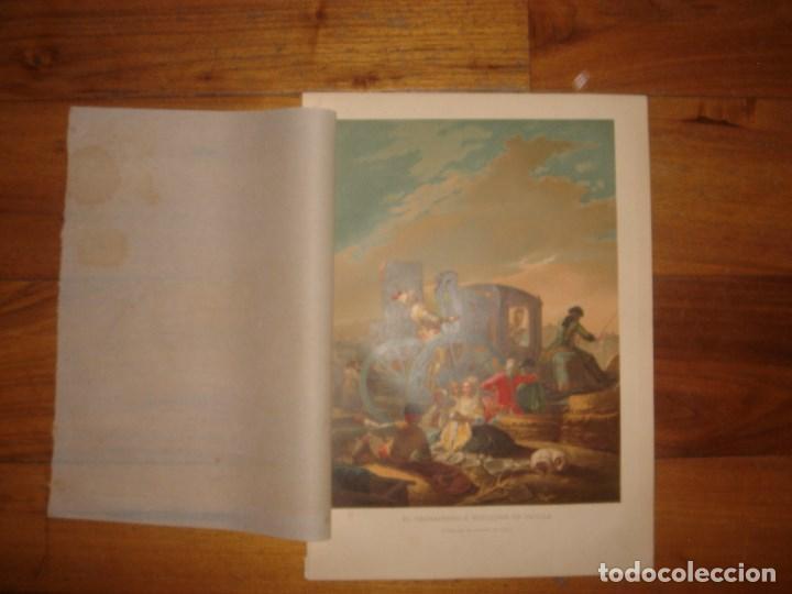 Arte: GRABADO EL CACHARRERO O VENDEDOR DE VAJILLA DE GOYA, 1879, BARCELONA,PUJADAS. - Foto 2 - 116622211